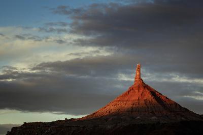 Sunrise on North Sixshooter Tower, Indian Creek, Utah