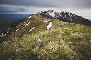 The Ridge Line Of The Wellsville Mountains Leading To The Wellsville Cone And Box Elder Peak, Utah by Louis Arevalo