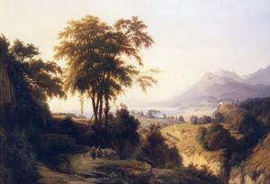 A Mediterranean Landscape by Louis Auguste Lapito
