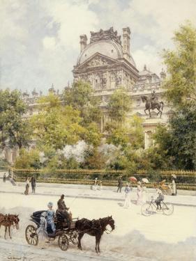 La Place Du Louvre, 1902 by Louis Beraud