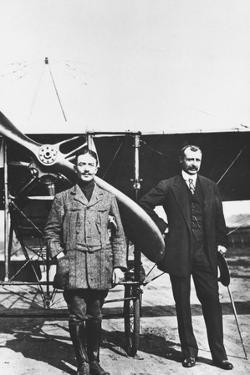 Louis Bleriot 1872-1936, French Aviator and the French Air Ace Adolphe Pegoud