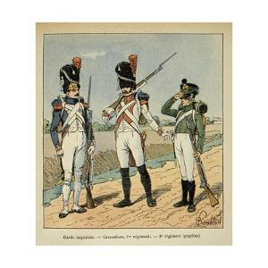Napoleon's Imperial Guard: 1st Regiment Grenadier and Pupils of the 2nd Regiment by Louis Bombled
