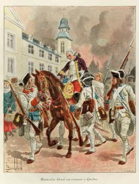Wounded General Montcalm Returning from Battle of the Plains of Abraham Sept. 1759 by Louis Bombled