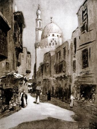 Old Street in Sunlight, Cairo, Egypt, 1928