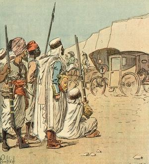 His Carriage in Egypt by Louis-Charles Bombled