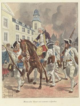 The Wounded General Montcalm Is Brought Back to Quebec, 1759 by Louis Charles Bombled