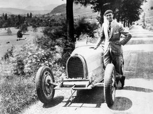 Louis Chiron with His Bugatti Type 51, Near Molsheim, Alsace, France, 1931
