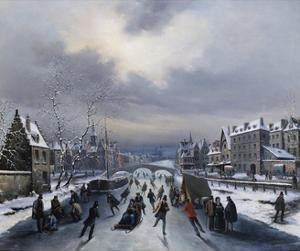 Skating on the Ice by Louis Claude Mallebranche