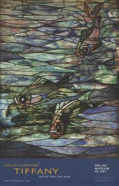 Window Panel with Swimming Fish by Louis Comfort Tiffany