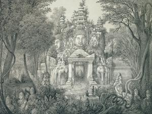 A Portal at Angkor Thom, 1873 by Louis Delaporte