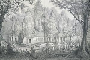 Ruins of Bayon, Cambodia, 1873 by Louis Delaporte