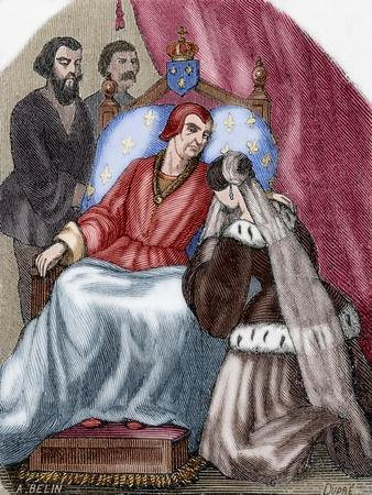 Death of Louis XI of France (1423-1483)