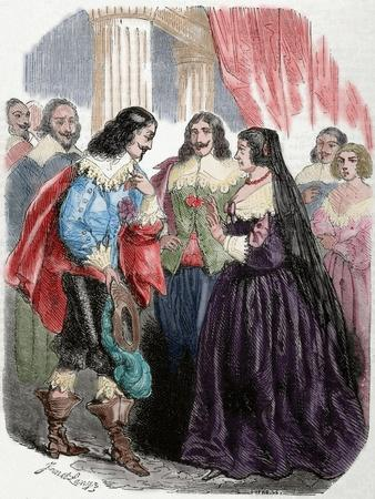 Interview Between the King Louis XIII of France (1601-1643) and His Mother Marie De'Medici. Coloure