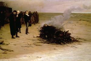 The Funeral of Shelley, 1889 by Louis Edouard Paul Fournier