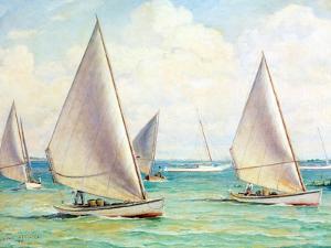 Chesapeake Bay Crabbing Skiffs by Louis Feuchter