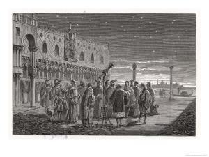 Galileo Shows the Satellites of Jupiter to Venetian Senators by Louis Figuier