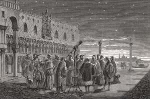 Galileo Shows the Satellites of Jupiter to Venetian Senators by Louis Figuier