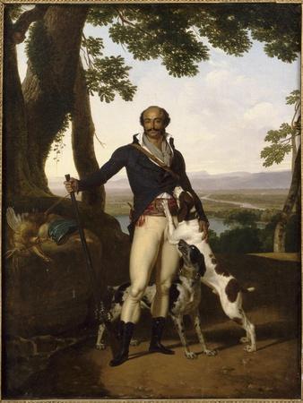 Portrait d'un chasseur avec ses chiens dans un paysage, dit Portrait d'Alexandre Dumas père
