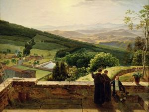 View of Vallombrosa, Near Florence by Louis Gauffier