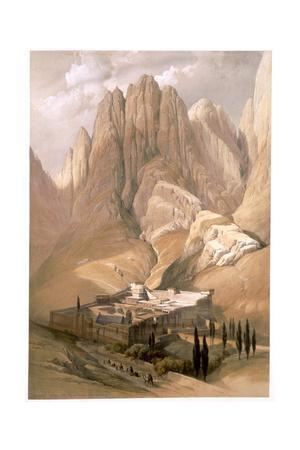 'Convent of St Catherine with Mount Horeb, February 19th 1839' (1849)