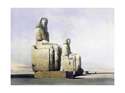 Detail of the Colossi of Memnon, Thebes, Egypt, December 4th 1838 (1846)