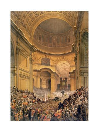 Duke of Wellington's Funeral in St. Paul's Cathedral, 1852