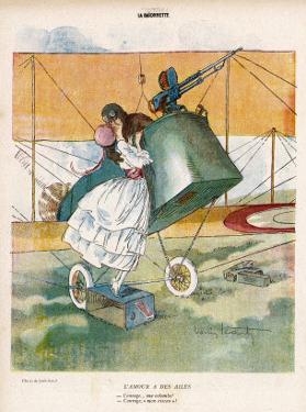 The Aviator Bids Adieu to His Girl by Louis Icart