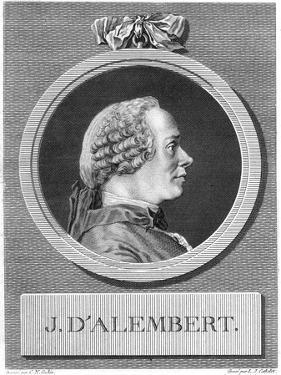 Jean Le Rond D'Alembert, French Philosopher and Mathematician, Late 18th Century by Louis Jacques Cathelin