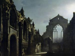Ruins of Holyrood Chapel by Louis Jacques Mande Daguerre