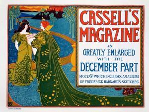 Advertisement for 'Cassell's Magazine', 1896 by Louis John Rhead