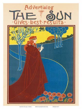 Advertising The Sun, Art Nouveau, La Belle Époque