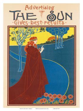 Advertising The Sun, Art Nouveau, La Belle Époque by Louis John Rhead