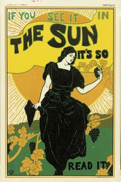 Poster Advertising 'The Sun' Newspaper, 1895 by Louis John Rhead