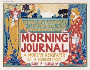 Poster for the Morning Journal New York, a Modern Newspaper at a Modern Price by Louis John Rhead