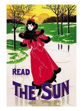 Read the Sun: Skating at Sunset by Louis John Rhead