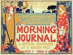 Reproduction of Poster Advertising'Morning Journal, a Modern Newspaper at a Modern Price, American by Louis John Rhead