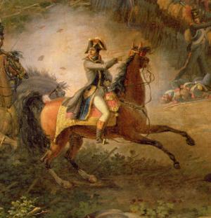 The Battle of Marengo, Detail of Napoleon Bonaparte by Louis Lejeune