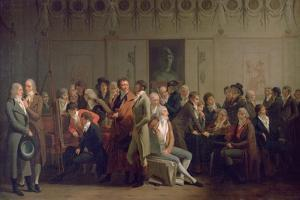 Reunion of Artists in the Studio of Isabey, 1798 by Louis Leopold Boilly