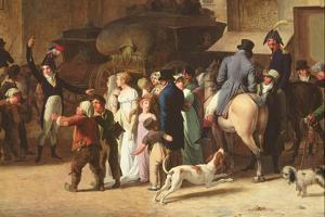 The Conscripts of 1807 Marching Past the Gate of Saint-Denis, Detail of Spectators by Louis Leopold Boilly