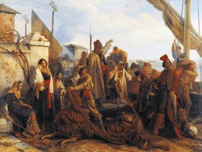 Fishermen Departing on the Adriatic, 1834