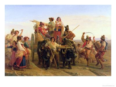The Arrival of the Harvesters in the Pontine Marshes, 1830
