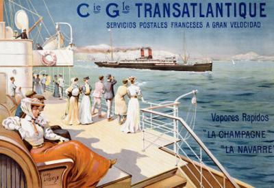 Cie. Gle. Transatlantique, circa 1910 by Louis Lessieux