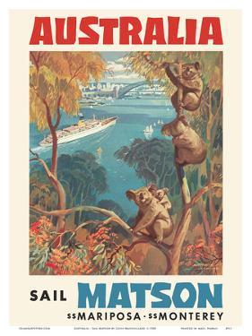 Australia - Sail Matson - SS Mariposa, SS Monterey - Matson Navigation Company by Louis Macouillard