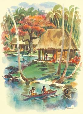 Samoa - S.S. Matsonia - Matson Line (Matson Navigation Company) by Louis Macouillard