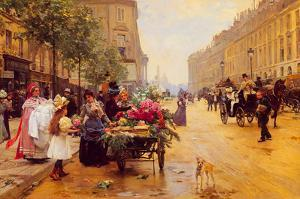 Rue Royale, Paris by Louis Marie de Shryver