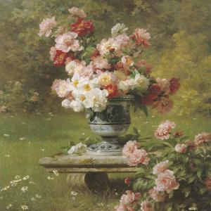 Peonies in a Wild Garden (detail) by Louis-Marie Lemaire