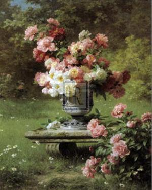 Peonies in a Wild Garden by Louis-Marie Lemaire