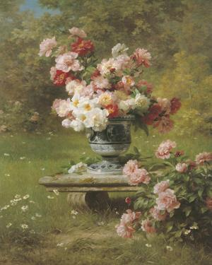 Peonies in a Wild Garden by Louis Marie Lemaire
