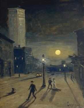 New York at Night by Louis Michel Eilshemius