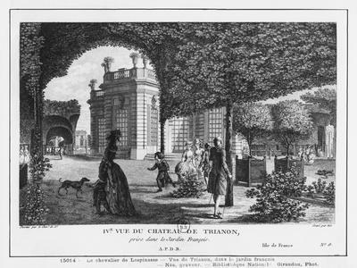 Fourth View of Trianon, Taken in the French Garden, Engraved by Francois Denis Nee (1732-1817)